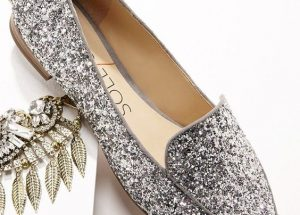 Silver Pointed Toe Loafers