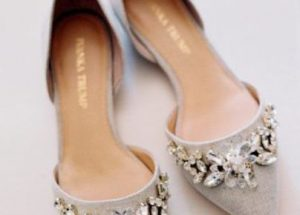 Silver Pointed Toe Wedding Shoes