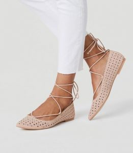 Strappy Pointed Toe Flat Shoes