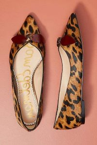 Womens Leopard Flats Pointed Toe