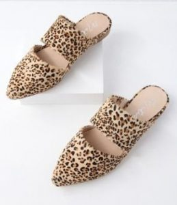 Women's Pointed Toe Leopard Flats