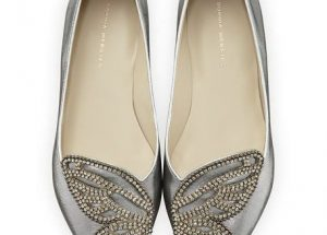 Women's Silver Pointed Toe Flats