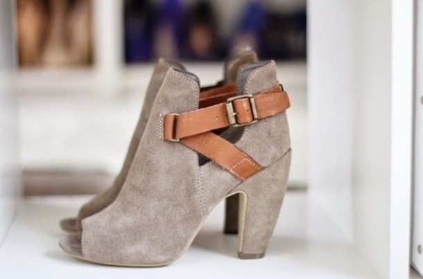 Peep toe cutout booties