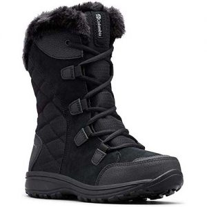 Black Winter Boots With Spikes